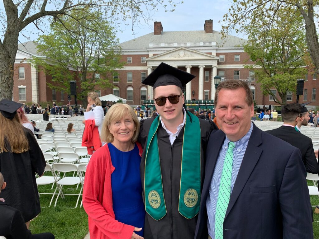 Chris Cooney graduates from the University of Vermont!